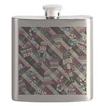 Happy Holidays Nutcracker Plaid Flask
