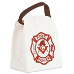 MASONIC FIRE-FIGHTER Canvas Lunch Bag