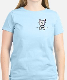 Pocket Westie Caricature T-Shirt