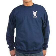 Pocket Westie Caricature Sweatshirt
