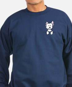 Pocket Westie Caricature Sweatshirt (dark)