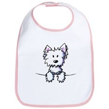 Pocket Westie Caricature Bib
