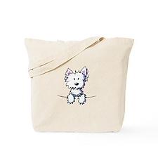 Pocket Westie Caricature Tote Bag