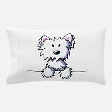Pocket Westie Caricature Pillow Case