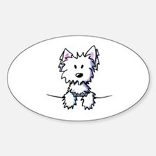 Pocket Westie Caricature Decal
