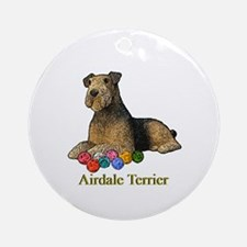 Airdale Terrier Christmas Ornament (Round)