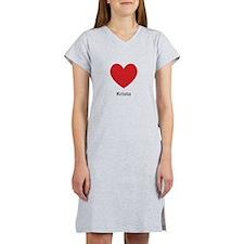 Krista Big Heart Women's Nightshirt
