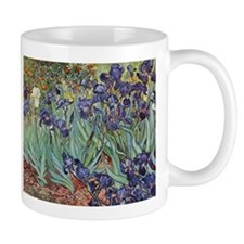 Irises by Van Gogh impressionist painting Small Mugs