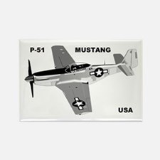 P-51 MUSTANG Rectangle Magnet (10 pack)
