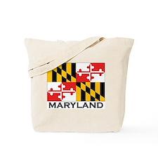 Maryland Flag Stuff Tote Bag