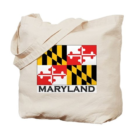 Maryland Flag Stuff Tote Bag