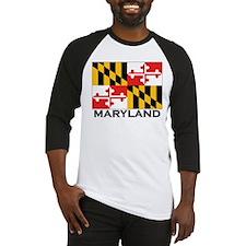 Maryland Flag Stuff Baseball Jersey