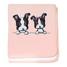 KiniArt Boston Terrier baby blanket