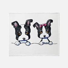 KiniArt Boston Terrier Throw Blanket