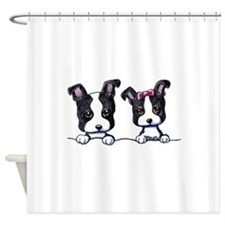 KiniArt Boston Terrier Shower Curtain