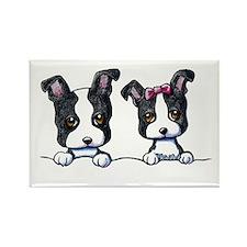 KiniArt Boston Terrier Rectangle Magnet