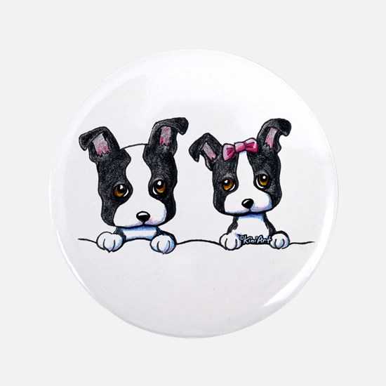 "KiniArt Boston Terrier 3.5"" Button"