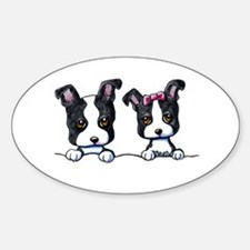 KiniArt Boston Terrier Sticker (Oval)