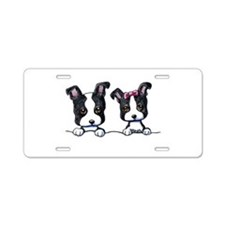 KiniArt Boston Terrier Aluminum License Plate