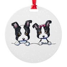 KiniArt Boston Terrier Ornament
