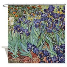 Irises by Van Gogh impressionist painting Shower C