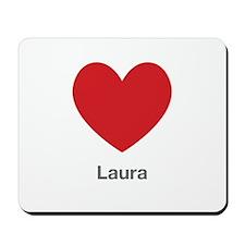 Laura Big Heart Mousepad