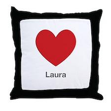 Laura Big Heart Throw Pillow