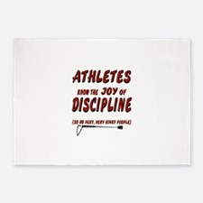 The joy of discipline 5'x7'Area Rug