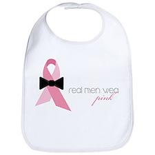 Real Men Wear Pink Bib