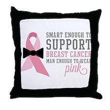 Man Enough to Wear Pink Throw Pillow
