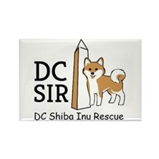 DC Shiba Inu Rescue logo Rectangle Magnet