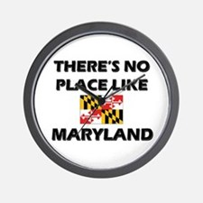 There Is No Place Like Maryland Wall Clock