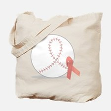 Baseball for Breast Cancer Tote Bag