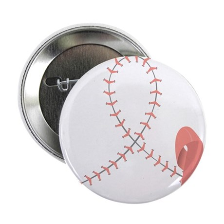 "Baseball for Breast Cancer 2.25"" Button"