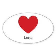 Lena Big Heart Decal