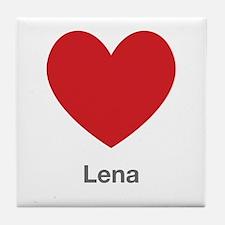 Lena Big Heart Tile Coaster