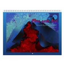 Fire and Ice Volcano Wall Calendar