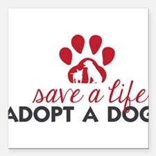 "Save a Life Square Car Magnet 3"" x 3"""