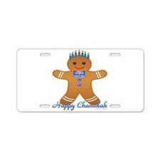 Chanukah Gingerbread Man Aluminum License Plate