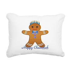 Chanukah Gingerbread Man Rectangular Canvas Pillow