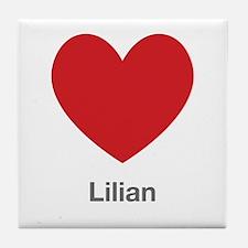 Lilian Big Heart Tile Coaster