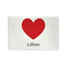 Lillian Big Heart Rectangle Magnet