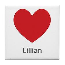 Lillian Big Heart Tile Coaster