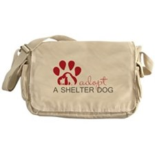 Adopt a Shelter Dog Messenger Bag