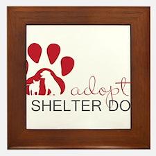 Adopt a Shelter Dog Framed Tile