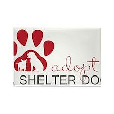 Adopt a Shelter Dog Rectangle Magnet