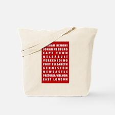 Red SA Cities Tote Bag