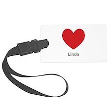 Linda Big Heart Luggage Tag