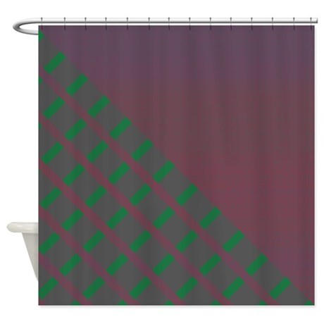 Plum Green Gray Shower Curtain By Coppercreekdesignstudio