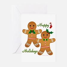 Gingerbread Man - Boy Girl Greeting Cards (Pk of 2